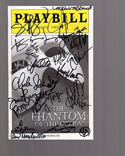 (Phantom Of The Opera Hand Signed Ny City Playbill+coa Signed On Cover By)