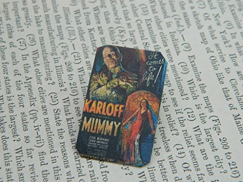 The Mummy Lapel Pin Vintage Movie Poster mixed media -