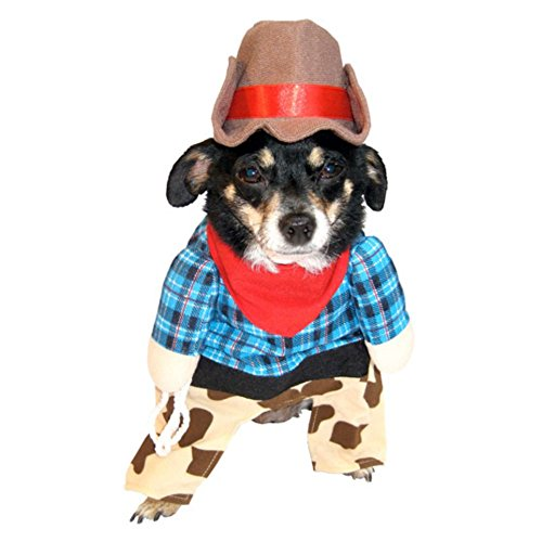 Cowboy Dog Costume Walmart (Cowboy Dog Costume Cow Boy Pet Outfit with Hat XXS)