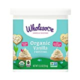 Wholesome Sweeteners Organic Vanilla Frosting, 12.5 ounce (Pack of 6)