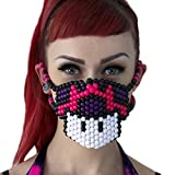 Mario Mushroom Purple Pink Surgical Kandi Mask by Kandi Gear