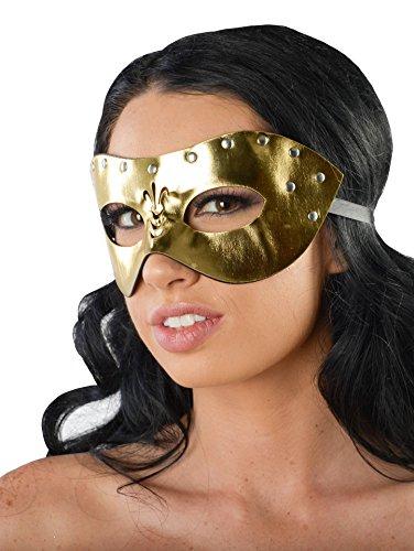 Zorro Costume Couple (Gold Shiny Faux Leather Prom Costume Women)