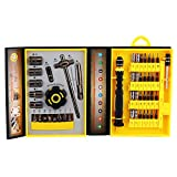 47 in 1 Hand Tools&Screwdriver bits Set With Organised Yellow Box High CR-V Material Multi-function Repair Tools Kit For Home Appliance,Machine,Cell Phone,Laptop,Computer and Other Electronic Devices