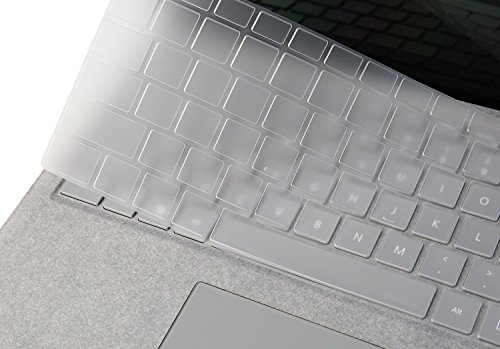 """Price comparison product image Microsoft Surface Laptop 2018 / 2017 Keyboard Cover, CASEBUY Premium Ultra Thin Keyboard Skin for Surface Laptop 2 2018 & Surface Laptop 2017 & Surface Book 2 13.5"""" 2018 / 2017 & Surface Book 15"""" US Layout"""