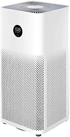 Purificador de aire Mi 3H Filtro Hepa de 40 W Aplicación con pantalla táctil OLED Control por voz Cobertura 126 m² Eliminación de polen, humo, polvo y pelo de animales Bajo nivel de ruido