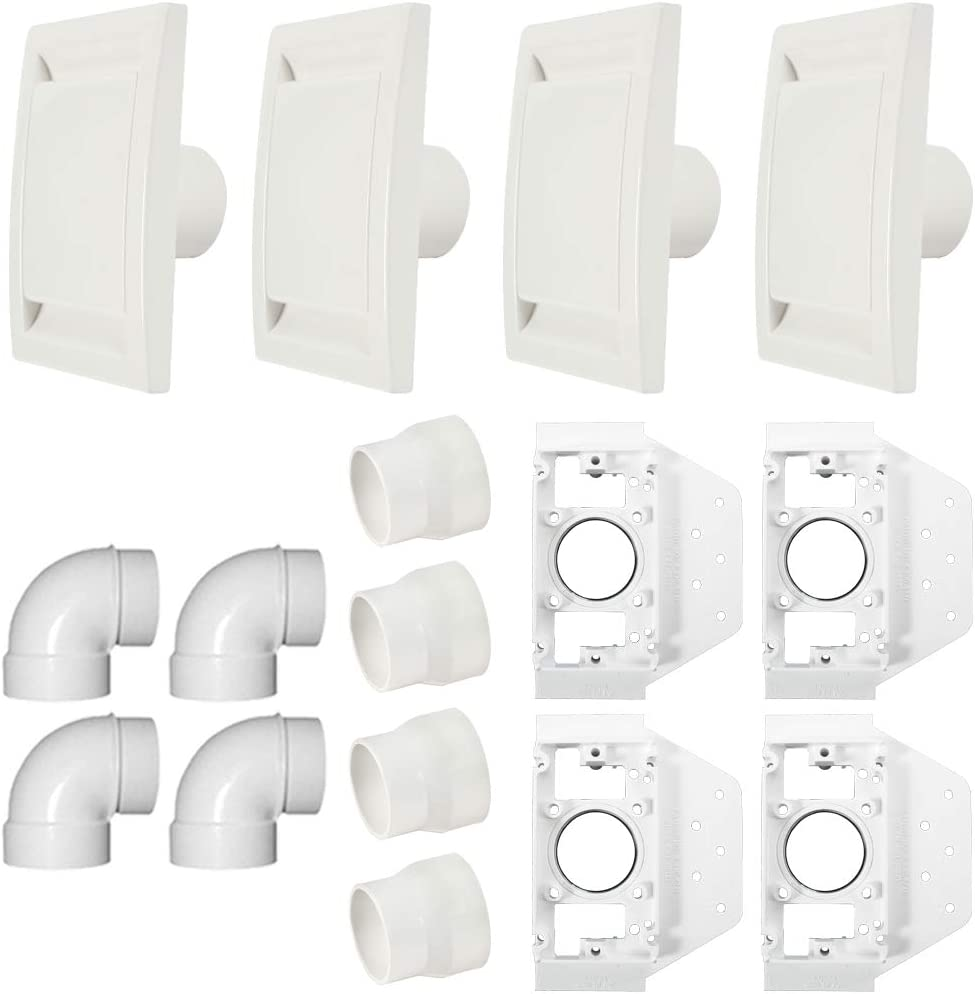 Cen-Tec Systems 92817 4 Inlet Central Vacuum Installation Kit, White