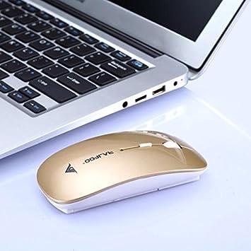 OHQ RatóN 2400 dpi 4 Botones óPticos USB Ratones De RatóN InaláMbrico para Juegos para PC PortáTil RatóN InaláMbrico Y Teclado Auriculares