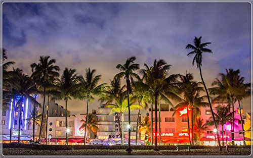 miami-beach-night-florida Postcard Post card