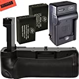 High Power Battery Grip Kit for Canon Rebel T7i and Eos 77D DSLR Camera - Includes Battery Grip + 2 BM Premium LP-E17 Batteries + Battery Charger