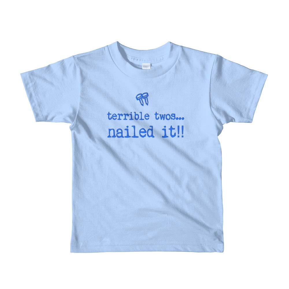 Kool Kwip Designs Terrible Twos Nailed It Shirt-Terrible 2//Two Tshirt-for Boys