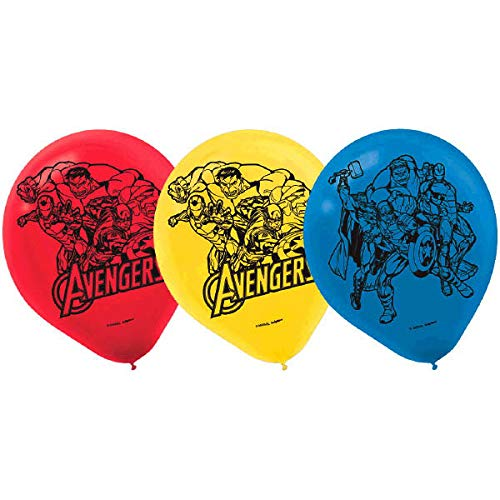 Avengers Balloons, 6 Pieces, Made from Latex, Avengers