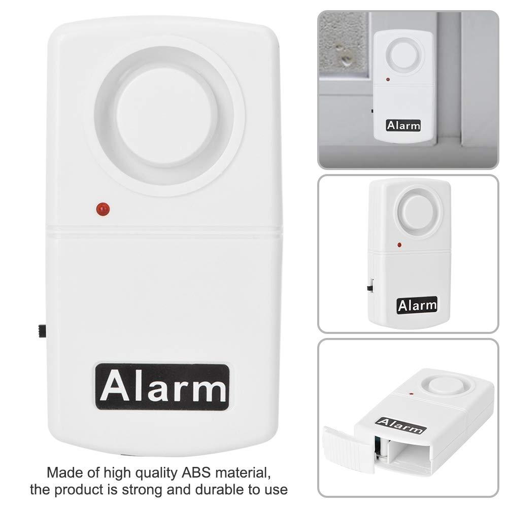 Alarma de seguridad de ventana casas caravanas Seguridad para el hogar inal/ámbrico Ventana de seguridad antirrobo Sensor de alarma de vibraci/ón para autom/óviles puerta de 120dB