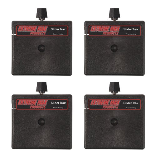 Extreme Max 3004.3156 Straight Base for Slider Trax / OEM Marine Accessory Mounting Systems, 4 Pack by Extreme Max