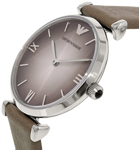 Emporio Armani Women's Retro AR1768 Grey Leather Quartz Watch