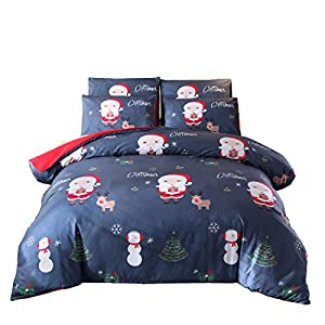 A Nice Night Christmas Deer Printed Bedding Sets Quilt Cover Set No Comforter