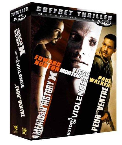 Coffret 3 DVD thriller : American history X / A history of violence / La peur au ventre
