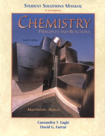 Chemistry: Principles Of Reaction Student Solutions Manual