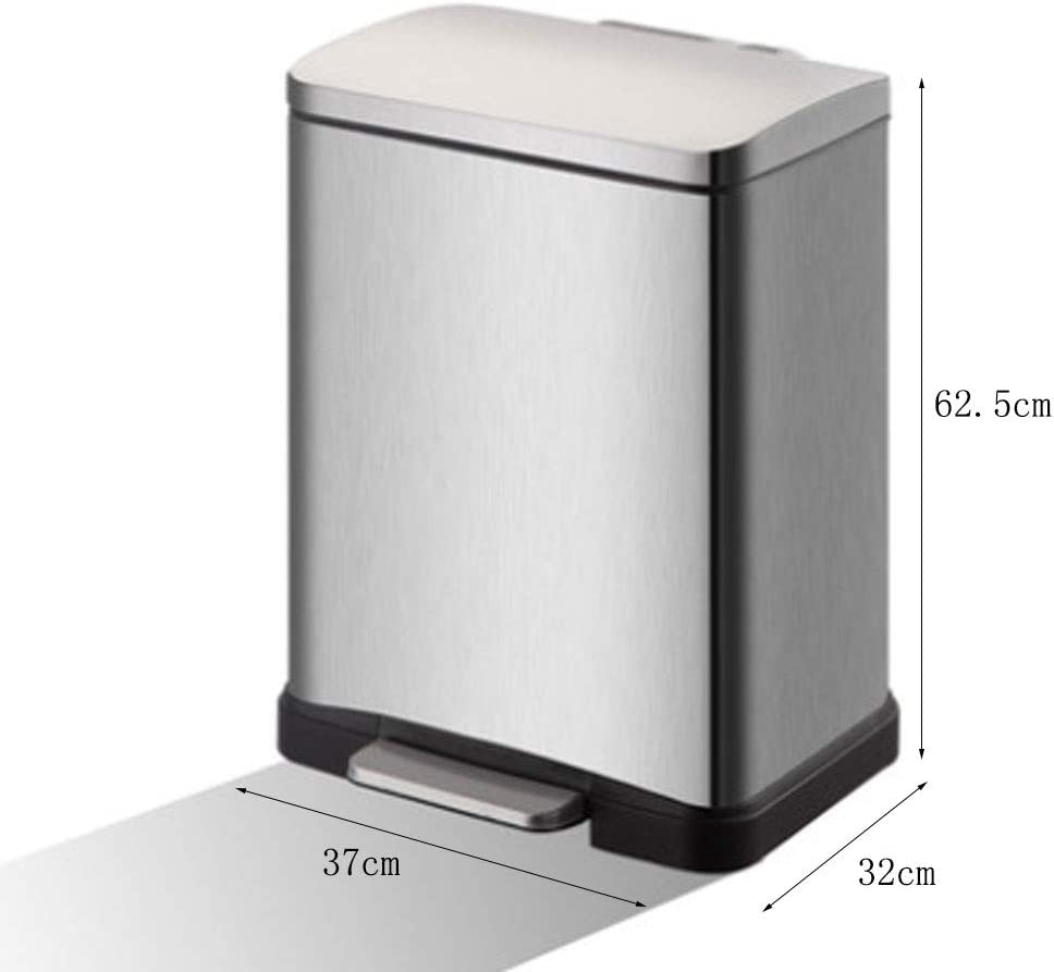Ashcan FORWIN UK- Trash Can-Semiautomático Bag-Changing, Acero Inoxidable: Amazon.es: Hogar