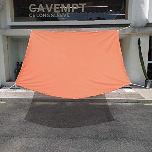 Sunny Guard 日除けシェード 雨よけ クールシェード 防水 サンシェード 撥水シェード 四角 1.8*2.4m オレンジ