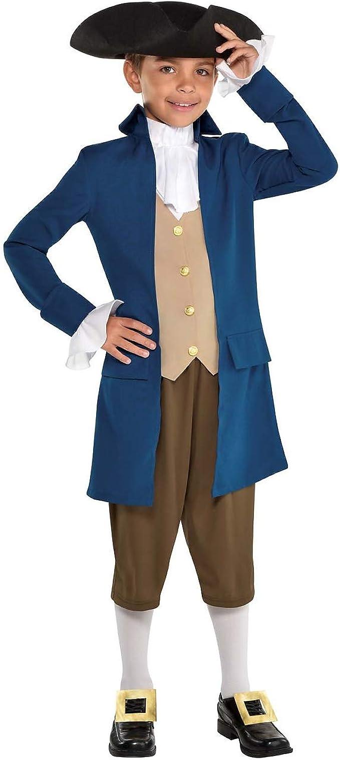 Paul Revere Colonial American Revolution Fancy Dress Halloween Child Costume