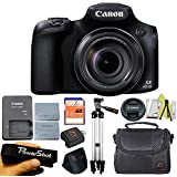 Canon Powershot SX60 Camera 65x Optical Zoom Lens 3-inch LCD + Case + 16 GB Card + Reader + 6pc Starter Set + Tripod + Extra Battery