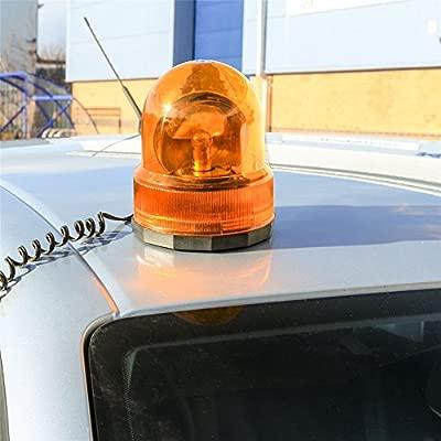 Beacon Orange Emergency Magnetic 12v Amber Toolzone Revolving Warning Light