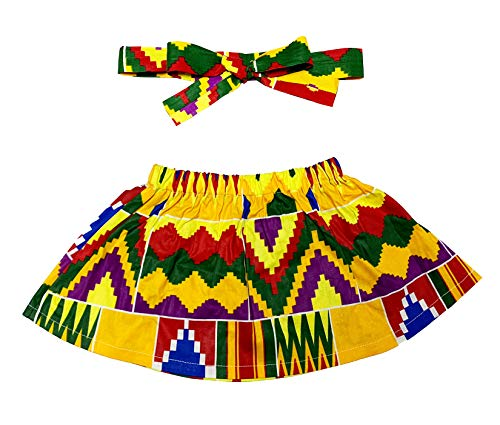Aikaplus Baby Girl African Print Skirt Dsahiki Tradition Clothing (S, Color -