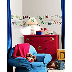 Lunarland ALPHABET 73 BiG Wall Stickers ABC pictures Room Decor Decal Name School Letters
