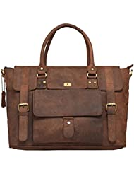 DH Divas Leather Messenger Satchel Laptop Messenger Bag Leather Briefcase Shoulder Mens Bag Leather Laptop Bag...