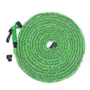 Manguera de Tubo Extensible étiré riego jardín mágico aproximadamente 7,5m verde