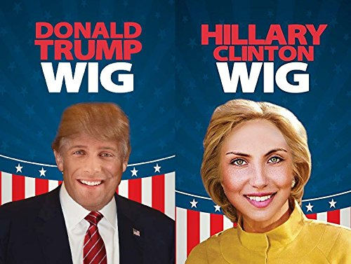 Donald Trump And Hillary Clinton Wig - Have A Debate In The Comfort Of Your Own Home! -