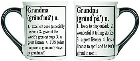 Grandma and Grandpa Mugs; Grandma And Grandpa Gifts; Set Of Two Large Coffee Cups By Tumbleweed