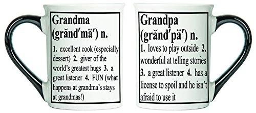 Grandma and Grandpa Mugs; Grandparent Mug Set; Set Of Two Coffee Cups By Tumbleweed
