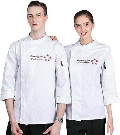 SK Studio Unisexo Algodón Manga Larga Chaqueta Cocina Uniforme Camisa de Cocinero Estilo 1: Amazon.es: Ropa y accesorios