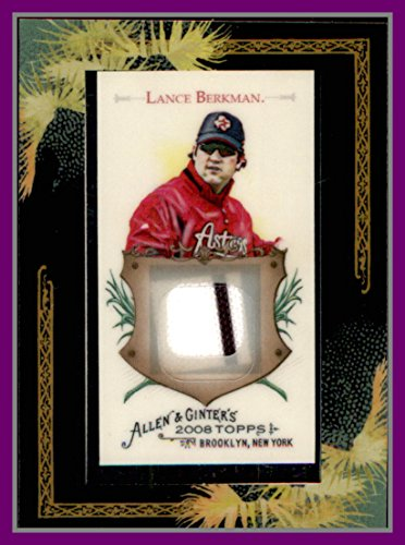 2008 Topps Allen and Ginter Relics #LB Lance Berkman GAME USED JERSEY Houston Astros