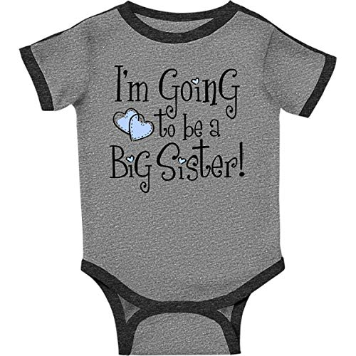(inktastic - Heart New Big Infant Creeper 18 Months Ringer Heather and Smoke 37ea )