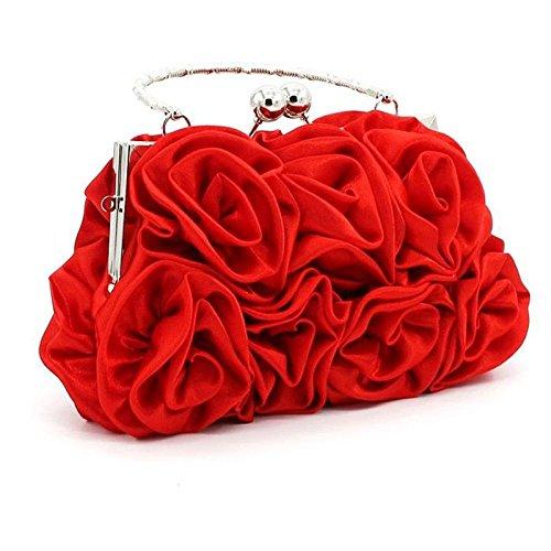 Vestido Salvaje Embrague Tamaño Honor Noche Dama Mindruer Manera Paquete Boda La Mujer color Bolso Red Red De Mano Atractivo Del Novia Talla Temperamento Cartera Única nvPWqUz