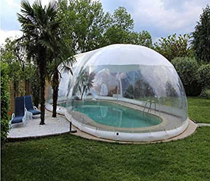 Amazon.com : Inflatable Hot Tub Swimming Pool Solar Dome ...