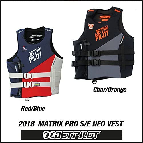 (JETPILOT/ジェットパイロット)2018 MATRIX PRO S/E NEO VEST ライフジャケット jp1845j 18JP L,Char/オレンジ