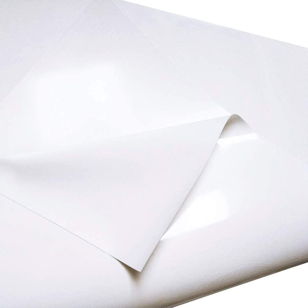 DEDC 1 Rollo Vinilo de Transferencia de Calor de PVC para DIY Bricolaje Diseño Imprimir Patrones de Camisetas Sombreros Mochilas Ropa 11.8 pulgadas x 12 pies (Blanco): Amazon.es: Oficina y papelería