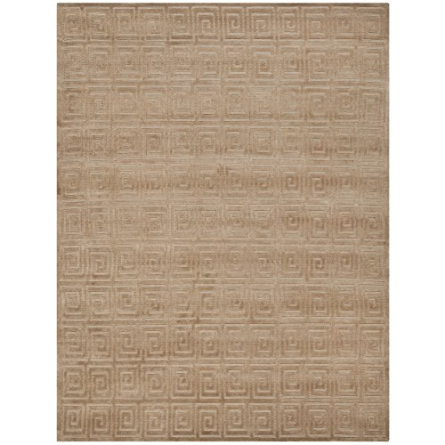 Safavieh Tibetan Collection TB108B Hand-Knotted Camel Wool Area Rug (9' x 12') (Tibetan Camel)
