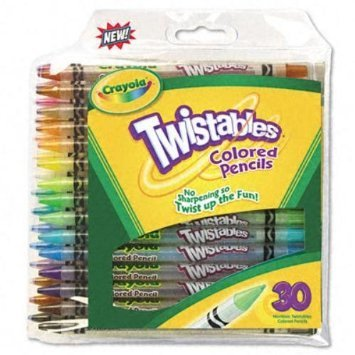 amazoncom crayola twistables colored pencils art tools 30 count bright bold colors great for adult coloring toys games - Crayola Colored Pencils Twistables