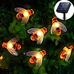 [50 LED] Solar Garden Lights, Honey Bee Fairy String Lights,7M/24Ft 8 Mode Waterproof Outdoor/Indoor Garden Lighting for… Outdoor Lighting [tag]