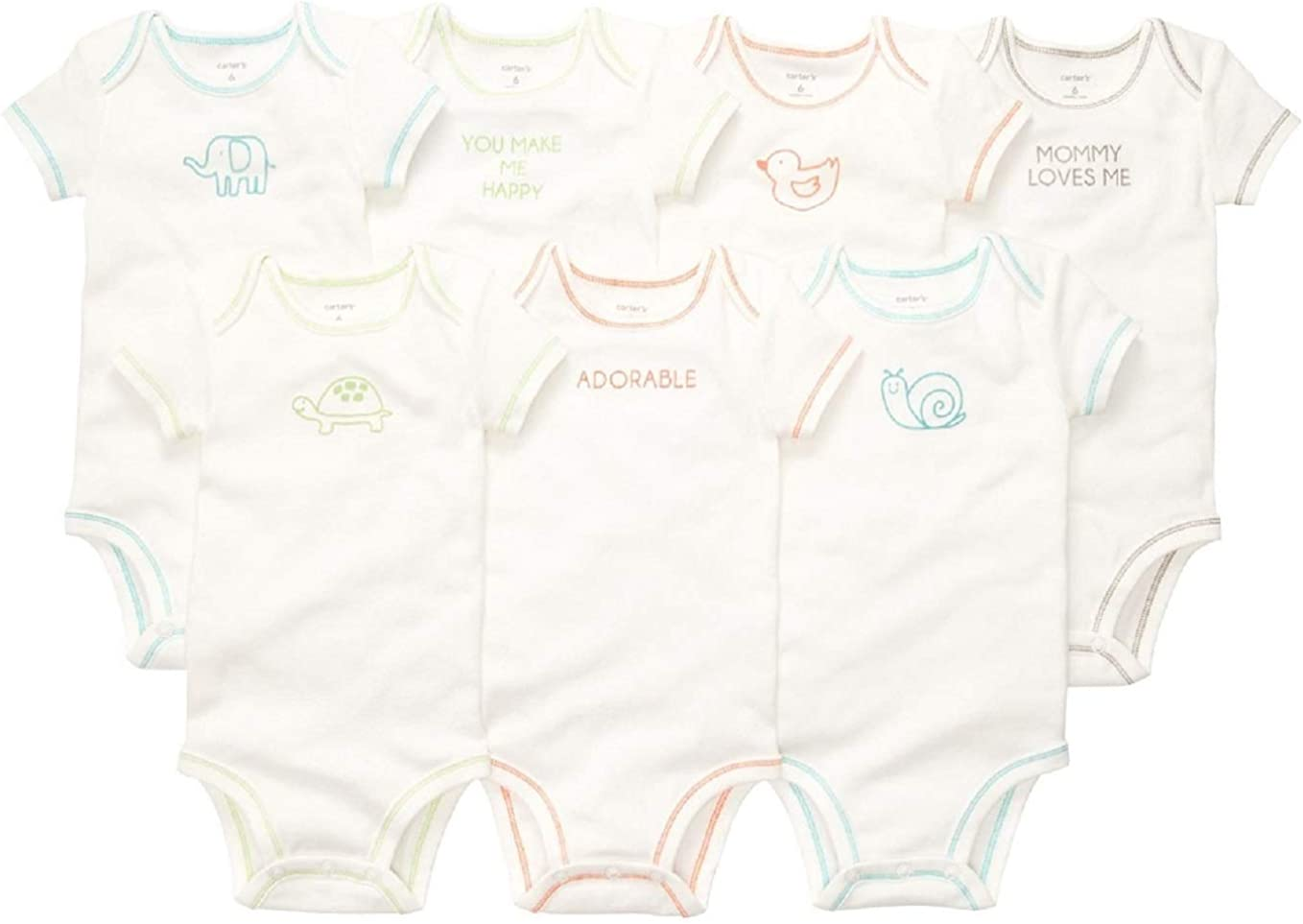 Baby Carters Baby Girls 5 Pack Bodysuits Kitty Love