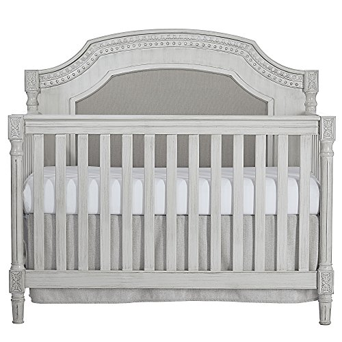 Evolur Julienne 5 in 1 Convertible Crib, Antique Grey Mist ()