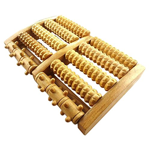 Dual Foot Messager Roller Dual Wooden Foot Relief Foot Relax Foot Pain Relax