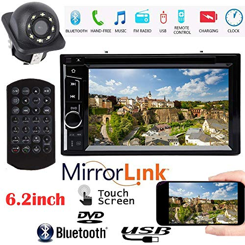 for GMC Sierra 1500 2500 3500 Double Din Car Stereo AM/FM Audio Bluetooth Hands-Free and Mirror Link, Support Reversing Camera Input