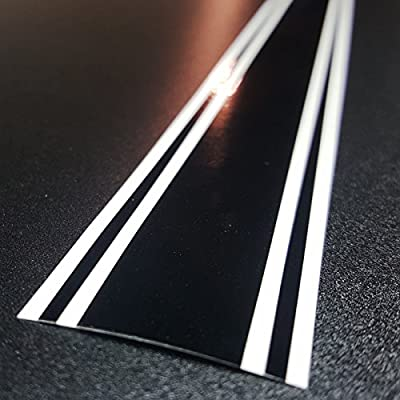 "ORACAL 3""x72"" Vinyl Racing Stripe Decal 651 (Gloss Black): Automotive"