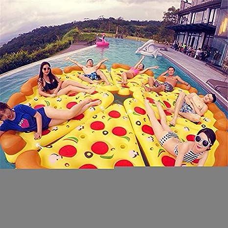 Hinchable Colchonetas Pizza Inflable Rebanada Gigante Piscina ...