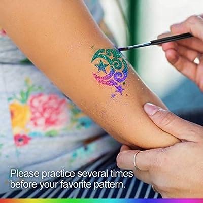 Face painting stencil Fun run runners washable//reuse glitter tattoo henna